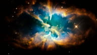 An Illustration of a Galactic Nebula in Outer Space video