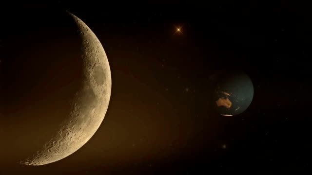 An Illustration of Earth and Moon from Outer space video