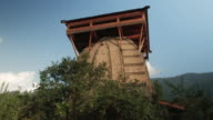 An unknown Hindu forest temple in the mountains, Himachal Pradesh, Kullu Valley video