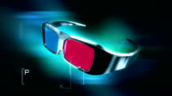 HD: 3D Anaglyph Glasses animation video