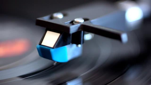 analog stereo turntable vintage vinyl close up video
