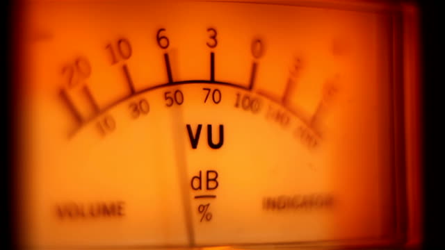 Analog volume meter in action video