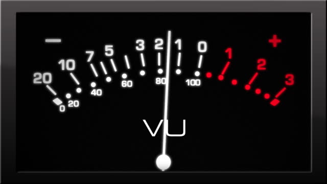 Analog VU Meter with Black Background video