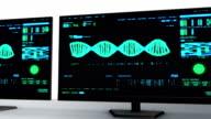 DNA Analysis Interface Monitors video