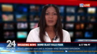 HD: TV Anchor Bringing Breaking News video