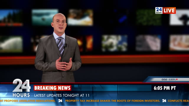 HD: Anchor Reading The Breaking News video