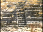 Ancient Amphitheater: Pull from Steps to Hill.  Lindos, Rhodes, Greece video