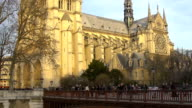 Ancient architecture, view on Basilica of Saint Denis church in Paris, France video