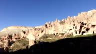 Ancient Cave buildings of Zelve in  Cappadocia video