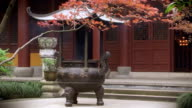 Ancient chinese temple video