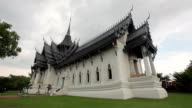 Ancient city,Temple of Thailand on sunset video