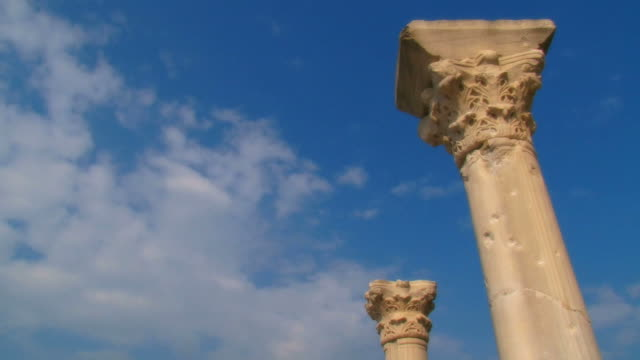 ancient columns and clouds (time lapse) video