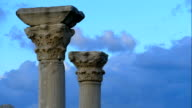 ancient columns on a sky background (timelapse) video