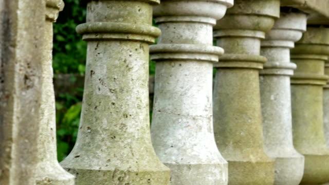Ancient Greek columns. Territory Milocer Park, near Sveti Stefan video