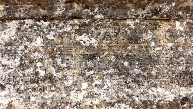 Ancient Greek Inscription in Hierapolis Pamukkale video