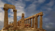 Ancient Greek Temple of Juno (V-VI century BC), Valley of the Temples, Agrigento, Sicily. The area was included in the UNESCO Heritage Site list in 1997 video