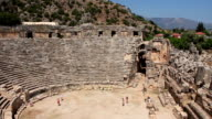 Ancient Greek-Roman amphitheatre.Myra old name - Demre, Turkey video
