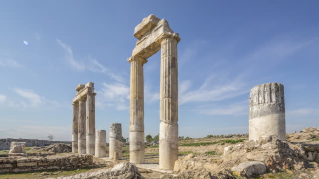 Ancient Hierapolis, Pamukkale, Denizli, Turkey video