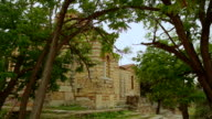 Ancient Holy Apostles Church in Athens, antique religious sanctuary, heritage video