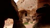 Ancient hoodoo monestary in Cappadocia video