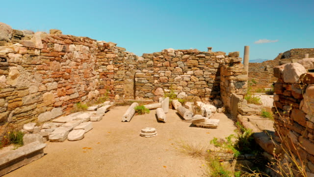 Ancient House Ruins in Delos, Greece video