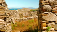 Ancient House Ruins in the Greek Island of Delos video