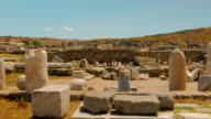 Ancient Market in the Greek Island of Delos video