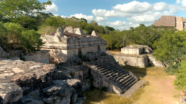 CLOSE UP: Ancient Mayan architecture and the remains of the temple Ek Balam video