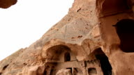 Ancient Monastery carved out of Fairy Chimney formations video