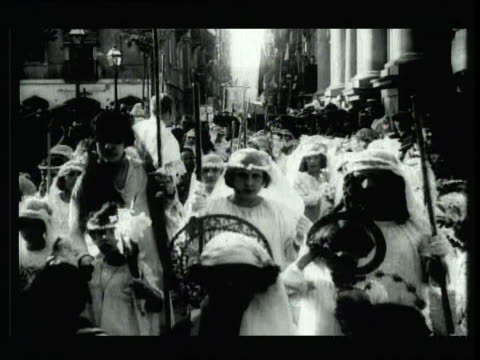 Ancient religious procession video