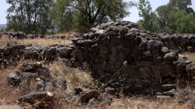 Ancient Remains of a City in Barren Field in Israel video