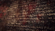 Ancient Roman Latin Script Panning video