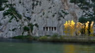 Ancient Roman ruins on the edge of Kizilirmak River video