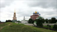 ancient Russian monastery time lapse video