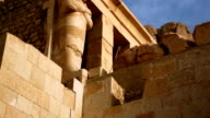 Ancient Sculpture of from Hatshepsut's Temple Egypt video
