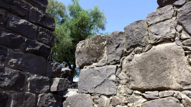 Ancient Stonewall in Synagogue Ruins video
