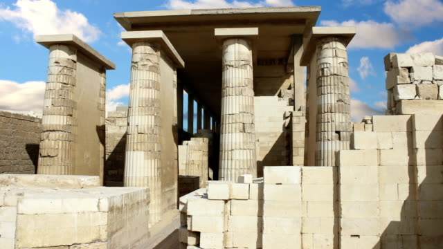 Ancient temple near the pyramid of Djoser. Egypt. Time Lapse. video