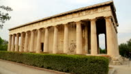 Ancient Temple of Hephaestus in Athens, Greek architecture, cultural heritage video