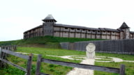 Ancient wooden fortress video