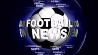 FOOTBALL NEWS and Ball Animation, Rendering Background, Loop video
