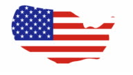 US MAP : and flag (TRANSITION) video