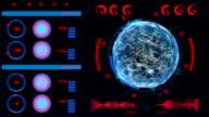 HUD and GUI set. Futuristic User Interface animation. video