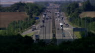 M1 And M6 Junction  - Aerial View - England, Leicestershire, Harborough District, United Kingdom video