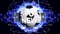 SPORT NEWS, and Sports Balls, Green Screen, Background, Rendering, Animation, Loop video