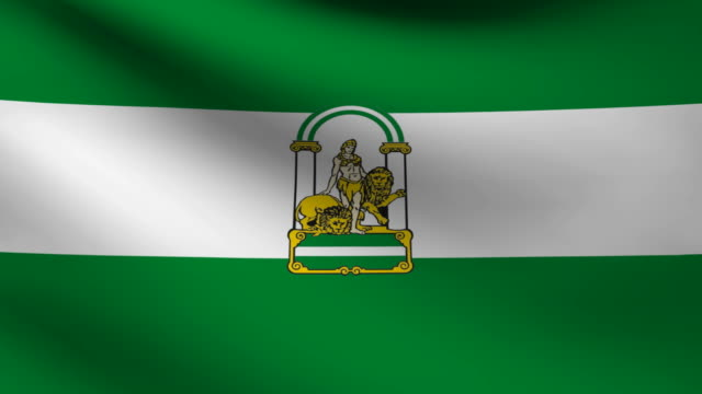 Andalusia flag. video