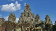 Angkor Bayon Temple at Angkor Thom in Cambodia video