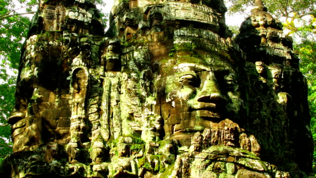 Angkor faces time lapse loop video