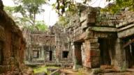 Angkor Preah Khan Temple at Angkor Thom in Cambodia video