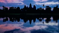 Angkor Wat - famous Cambodian landmark - on sunset video