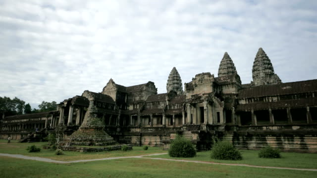 Angkor Wat Temple Cambodia cloudscape time lapse video